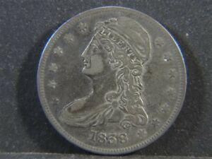 1838 US Capped Bust Half Dollar 50c COIN High Grade