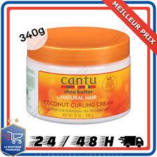 Cantu Crème Beurre de Karité Soin Coiffe Hydrate Cheveux Noix de Coco 340g