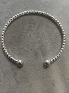 sterling silver torque bangle 925