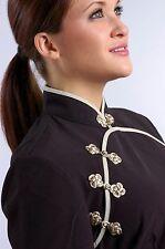 Mandarin Style Short Sleeves Black XXL (14) - Uniform, Nails Spa Wax Esthetician