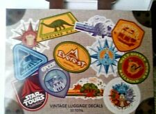Walt Disney World Vintage Luggage Decals Set, NEW