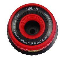 USD - HOLGA PINHOLE HPL-N RED Lens for NIKON DSLR D90 D7000 D700