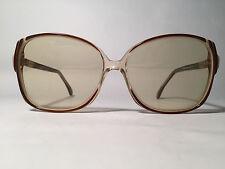 VINTAGE nigura 9620 57 13 marrón beis Cuadrado Gafas de sol sunglasses NOS