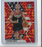 2019 Panini mosaic basketball Reactive Orange USA SP Stephen Curry #260