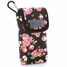 Protective iPhone SE Case Holster by USA Gear with Belt Loop & Clip - Floral