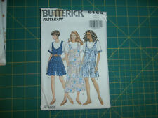 Butterick 6166 Size Xs S M Misses' Jumpsuit Top Very Easy
