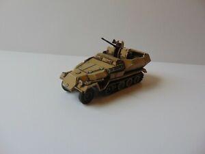 1:76 WW2 BUILT & PAINTED GERMAN SDKFZ 251/17 AUSF D FLAK 38 (desert)