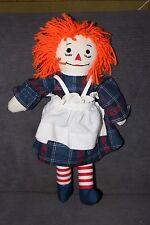 Raggedy Ann Doll Hand Made by Salina Swope In 1970's Orange Hair