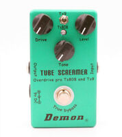Tube Screamer 2 in 1 Guitar Overdrive Effect Pedal - Models the Ibanez TS808 TS9