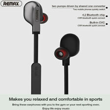 REMAX Wireless Bluetooth Stereo Headset Earphone For Samsung Galaxy S9 S10+ Plus