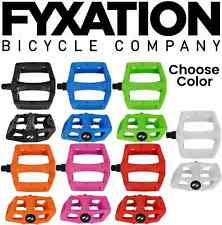 Fyxation Gates Bike Wide Platform Pedals BMX MTB Molded Pins Pick a Color