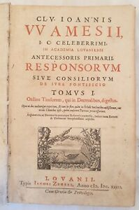 DIRITTO PONTIFICIO WILLIAM AMES RESPONSORUM IURE PONTIFICIO DECRETALES 1643