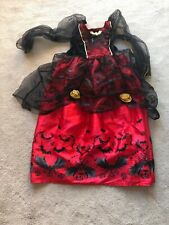 Girls Age 7-8 Halloween Costume Red/Black
