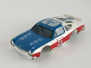 AFX AURORA AMC MATADOR STOCK CAR #5 WHITE VINTAGE HO SLOT CAR BODY ONLY
