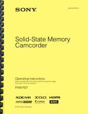 Sony Pxw-Fs7 User Operating Instruction Manual