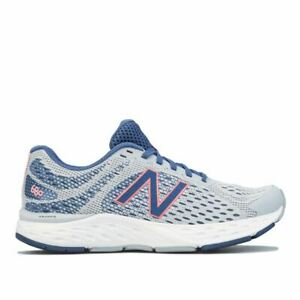 Women's New Balance 680 Lace up Running Trainers in Grey