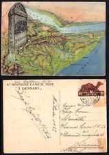 CARTOLINA commemorativa a colori 4 Divisione Camice Nere 3 Gennaio Viaggiata