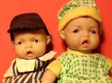 "Vintage 1999 & 2003 Uneeda Bean Bag 7"" & 8"" Precious Expressions Dolls w/Tags"