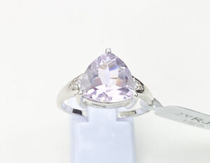 Rose De France Amethyst Gemstone Ring, Size T/U, Gems Tv/ Gemporia, With Cert