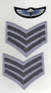 SPECIAL AIR SERVICE SERGEANTS INSIGNIA/CHEVRONS/STRIPS PLUS PARACHUTE WINGS