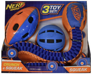 NWT! Nerf Dog Toy Set or Each Individual Crunch & Squeak Tuff Tug Ball Football