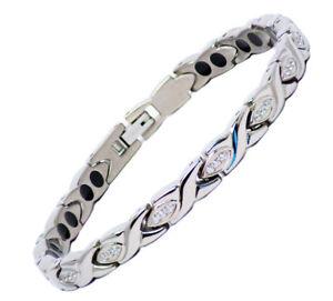 Ladies Titanium Magnetic Therapy Bracelet Menopause, Hot Flushes, Arthritis Pain