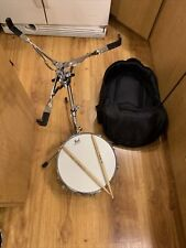 Pearl Ss Steel Shell Snare Drum w/Carrying Case/rolling Bag, Stand, Sticks
