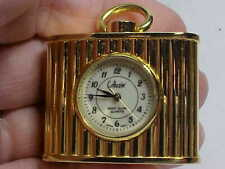 Nice Small Desk Clock By Collezio 43.5Mm By 34Mm In Size Gold Plated New Battery