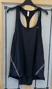 UNDER ARMOUR. Ladies Black Tank / Vest Top. Size L. Uk 14/16. Worn Once.