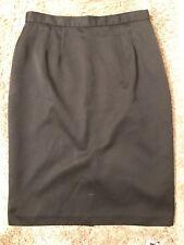 Simon Ellis Lined Straight Women Skirt Size 14 Black Skirt GUC