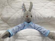 Luna Lapin handmade Crisp blue & white 100% Cotton Striped Pyjamas.
