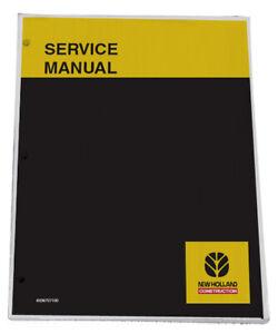 NEW HOLLAND LW80.B Wheel Loader Service Manual Repair Technical Shop Book