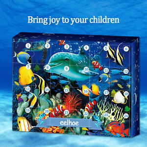 FE- Underwater World 2020 Advent Calendar Toy with 24 Little Doors Kids Fun Toy
