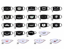 Cotton Cartoon Print Face Mask Funny Mouth w/ Teeth Breathable Reusable Washable