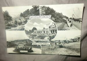 Chalkwell &  Westcliff-on-Sea real photo postcard Southend postal slogan 1967