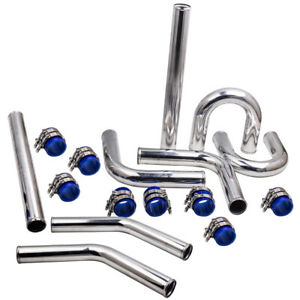 """2.5"""" 63mm NEW Universal Intercooler Turbo Piping Aluminum Alloy Pipe Kit LM"""