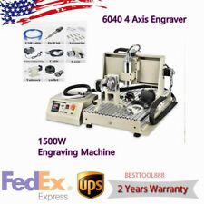 New Listing6040 4 Axis Engraver 1500w Cnc Router Desktop Drill Mill Engraving Machine Usb