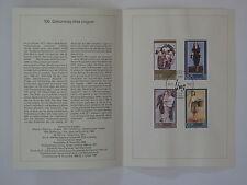 (88j26) DDR Erinnerungsblatt 1988 mit ESST Mi.Nr. 3209-3212 Max Lingner,Maler