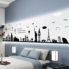 City Silhouette Wall Decal Wall Sticker Living Room Decorative Wall Poster Decal