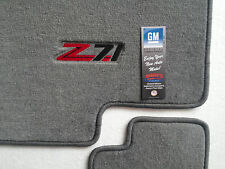 Chevy Avalanche Gray Carpet Fit Floor Mats 3Pc with Z71 Logo on Fronts 2007-14