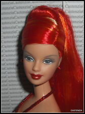 NUDE BARBIE MATTEL DANCING FIRE LONG PONYTAIL RED ORANGE YELLOW DOLL FOR OOAK