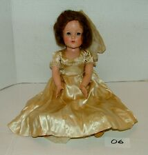 "#1930s Effanbee Composition 18"" Brown Hair Doll w Outfit Lot#06"