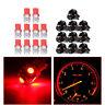 10x Red T10 SMD 194 LED Bulbs For Instrument Gauge Cluster Dash Light W/ Socket