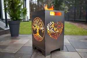 Feuerkorb Feuertonne Feuerschale Groß Steckbar Leichte Reinigung 50x30x30