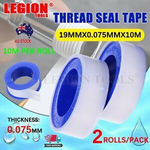 TEFLON TAPE PLUMBERS THREAD SEAL TAPE PTFE 19MMX10 M/Roll  2 Roll/PACK