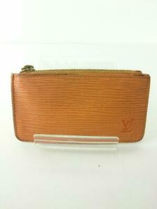 Authentic Louis Vuitton orange Epi Pochette Cle coin holder CA0043