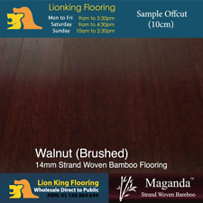 14mm Bamboo Floating floor Easy DIY Flooring- Walnut Brushed SAMPLE
