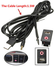 In car USB AUX adapter socket 3.5mm jack input flush dash mounted extension