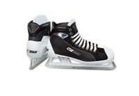 New Bauer One95 Pro Ice Hockey Goalie skates size 9.5D Senior black/white men SR