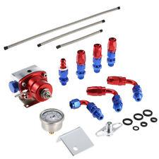 Universal Adjustable Fuel Pressure Regulator Gauge Kit An6 Fitting End